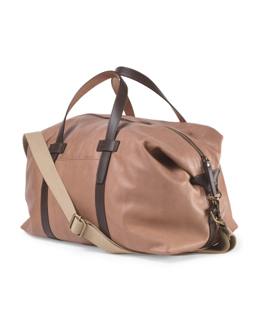 Made In Italy Leather Weekender
