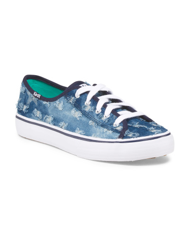 Canvas Double Up Distressed Shoe