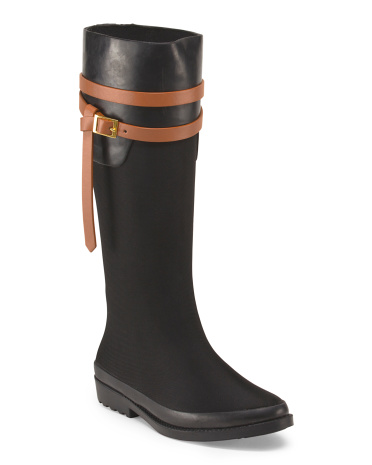 Tall Rain Boot With Wrap Buckle