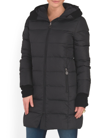 Bryce Horiz Hooded Down Jacket