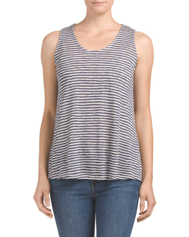 Made In USA Textured Stripe Top