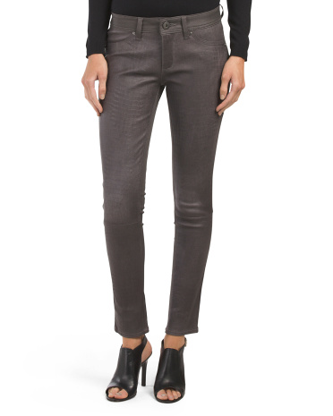 Emma Skinny Leather Front Pant
