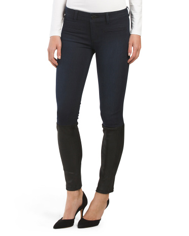 Leather Front Emma Skinny Pant