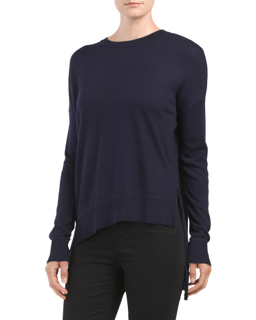 Solid Asymmetrical Bottom Sweater