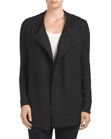 Juniors Long Sleeve Drape Cardigan