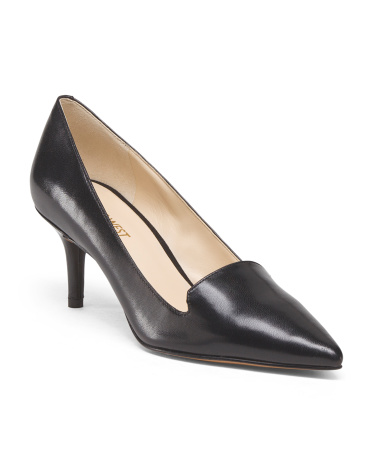 Leather Pointy Pump