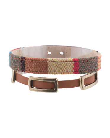 Leather Wrap Bracelet With Coordinating Bracelet