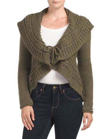 Made In Italy Shawl Cardigan