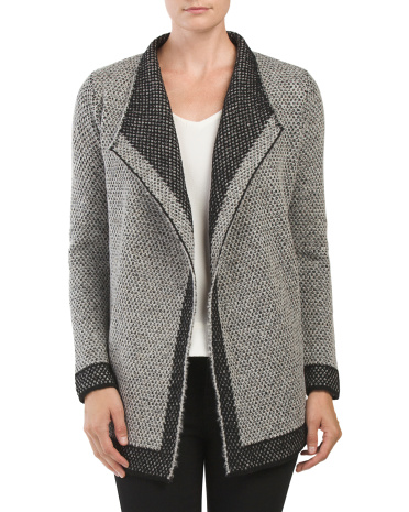 Made In Italy Drape Cardigan