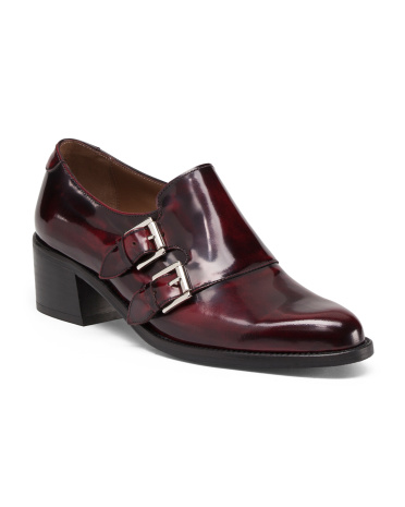 Made In Spain Monk Strap Leather Shoes