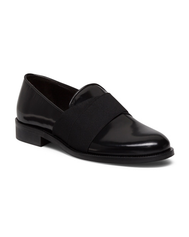 Made In Italy Patent Leather And Elastic Loafers