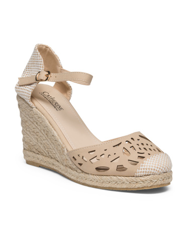 Cut Out Espadrille Wedge