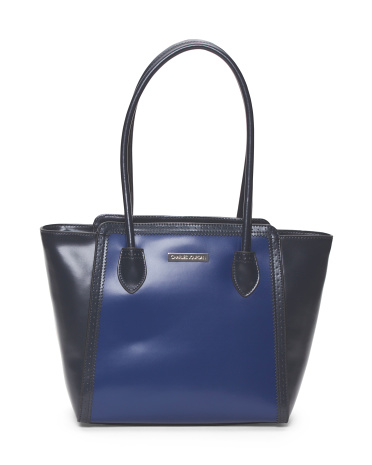 Leather Velvet Tote