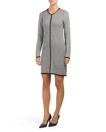 Merino Wool Herringbone Dress