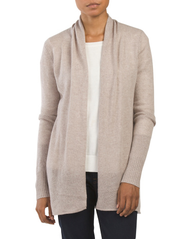 Cashmere Open Front Sweater