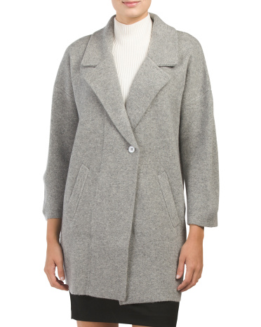 Cashmere Notch Collar Coat