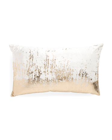14x24 Made In India Gold Foil Pillow