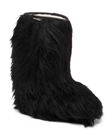 Made In Italy Faux Fur Hairy Boots