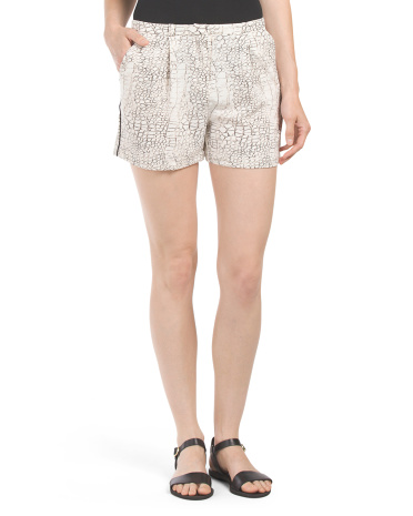 Abstract Skin Print Short
