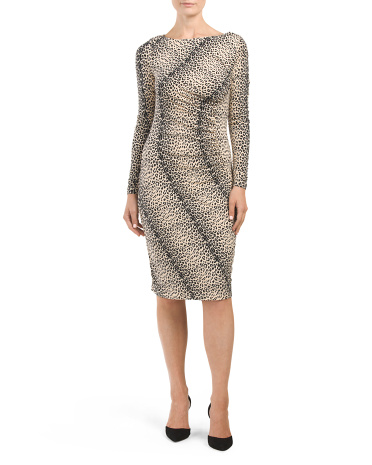 Leopard Printed Panel Dress