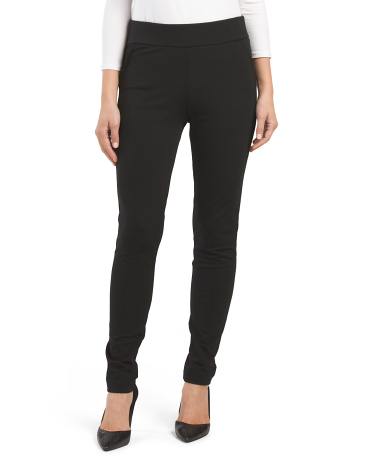 Ponte Sleek Faux Trouser Pants