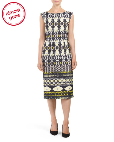Aztec Printed Midi Dress