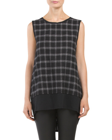 Plaid Overlay Top
