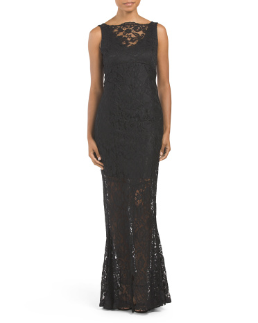 Long Gown With Corded Lace