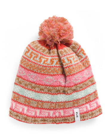 Nordic Fleece Lined Pom Beanie