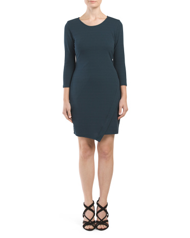 Made In USA Asymmetrical Crepe Dress