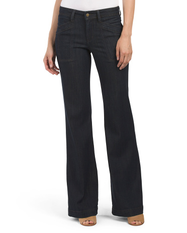 Eve Mid Rise Wide Leg Pant