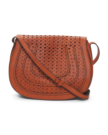 Perforated Saddle Bag