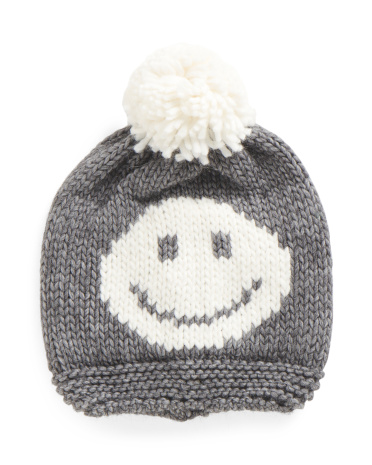 Made In Italy Smile Pom Hat