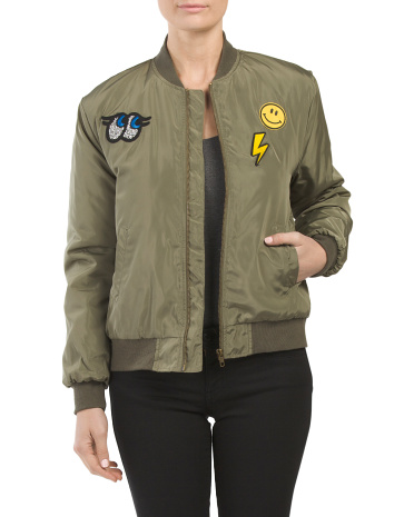 Juniors Patch Bomber Jacket
