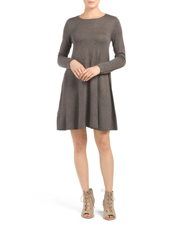Solid A Line Sweater Dress