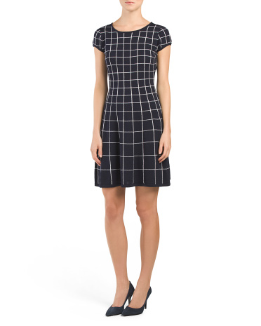 Merino Wool Window Pane Dress