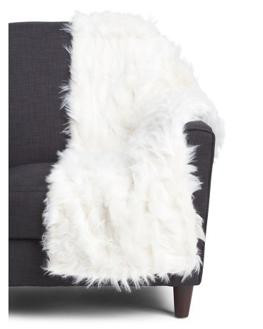 Indiana Faux Fur Throw