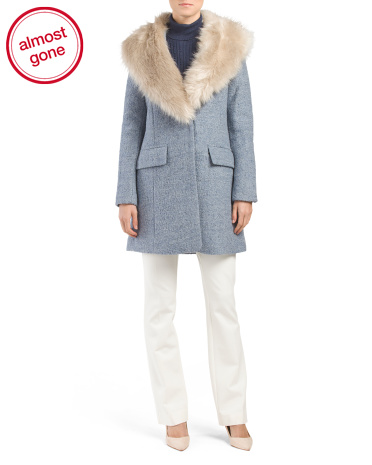 Holly Wool Coat With Faux Fur