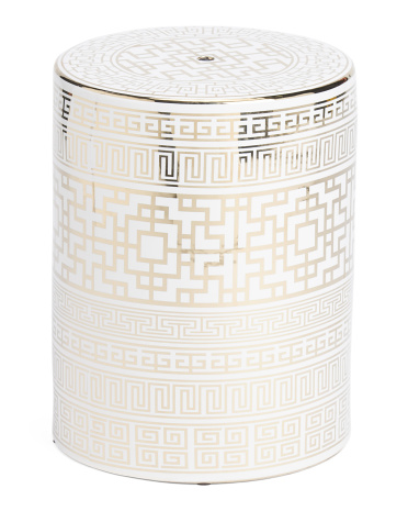 Patterned Ceramic Stool