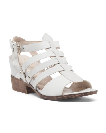 Made In Italy Leather Strappy Sandal