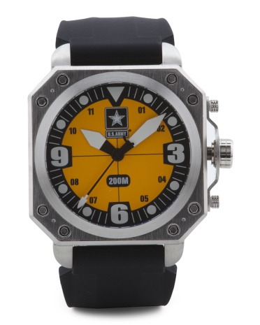 Men's U.S. Army C4 Silicone Strap Swiss Movement Watch