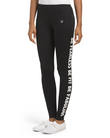 Be Fearless Be Fit Be Fabulous Leggings