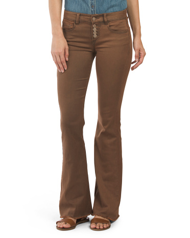 Juniors High Waist Flare Pants
