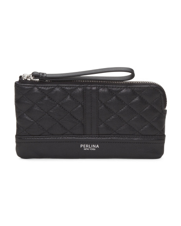 Blake Quilted Leather Wristlet