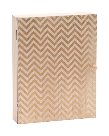 8x10 Chevron Print Wall Hanging Key Holder