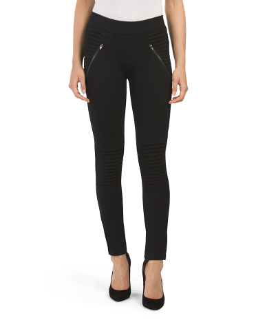 Juniors Moto Ponte Pull On Pant