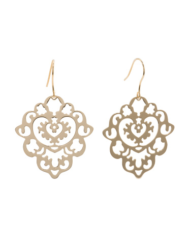 Made In Italy Gold Plated Sterling Silver Marrakesh Earrings