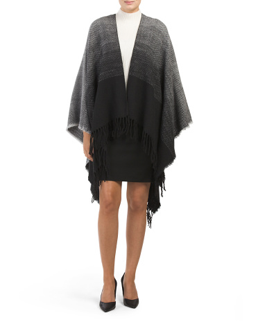 Ombre Woven Blanket Wrap