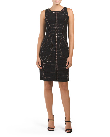 Made In USA Sleeveless Beaded Dress
