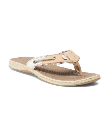 Seafish Leather Thong Sandals